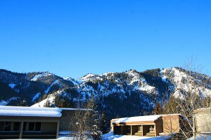 View of Baldy from the condo